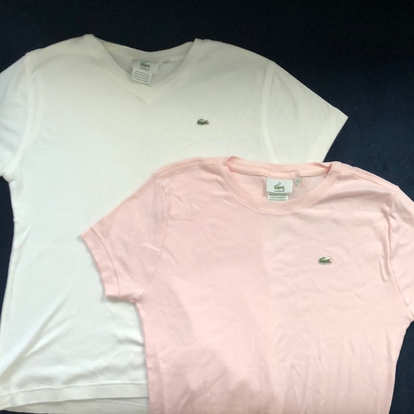 f00239cb LaCoste Bundle. Two ladies t-shirts